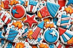 Fourth of July Firecracker Cookies |  by SweetSugarBelle
