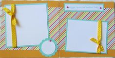 cute sisters 6x6 scrapbook pages2