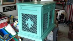 Repurposed vintage console stereo. It is now a t.v.cabinet