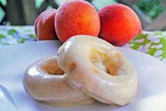 Peaches 'n Cream Baked Doughnuts