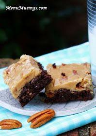 Menu Musings of a Modern American Mom: New Orleans Praline Brownies new orleans, orlean pralin, bake, food, sweet tooth, recip, bar, pralin browni, dessert