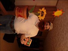 """Plants vs Zombie- Crazy Dave Costume + great idea for giving out candy in """"seed envelopes"""""""