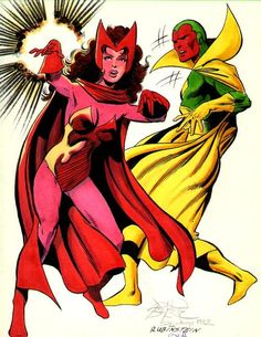 Vision and Scarlet Witch by John Byrne