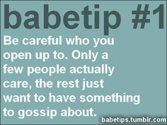 ♥ #BabeTip #Advice
