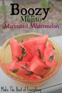 Mojito Marinated Watermelon