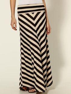 Chevron Stripe Maxi Skirt