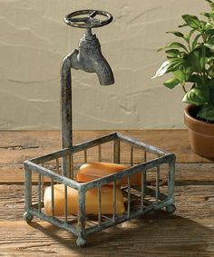 This Water Faucet Soap Holder is perfect! #zulilyfinds