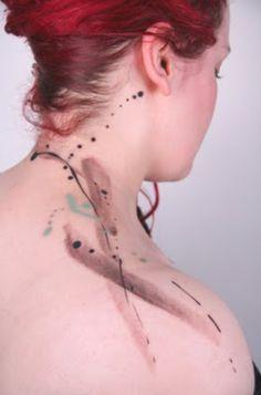 Amanda Wachob, an artist, does incredible watercolor tattoos.