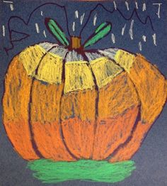 For the Love of Art: 1st or 2nd Grade Value Pumpkins. Another take on Katie Morris' lesson