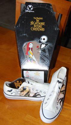 Nightmare Before Christmas Shoes Jack Skellington Laceless Sneakers   eBay