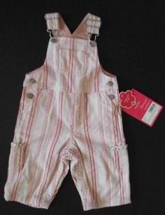 """This item now 30% off purchase price with coupon code """"mimisales"""" ~New Carters Girls Pink Striped Corduroy Bib Overalls~Size 6 months- Exp. 2/29/12 #teamsellit"""