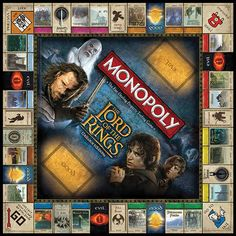 Lord of the Rings Monopoly - Take My Paycheck - Shut up and take my money!   The coolest gadgets, electronics, geeky stuff, and more! I NEED THIS!!!!!!!!!!!!!!!!!!