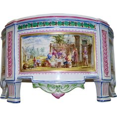 Beautiful Antique French Faience Paul Hannong Strasbourg Jardiniere circa 1744