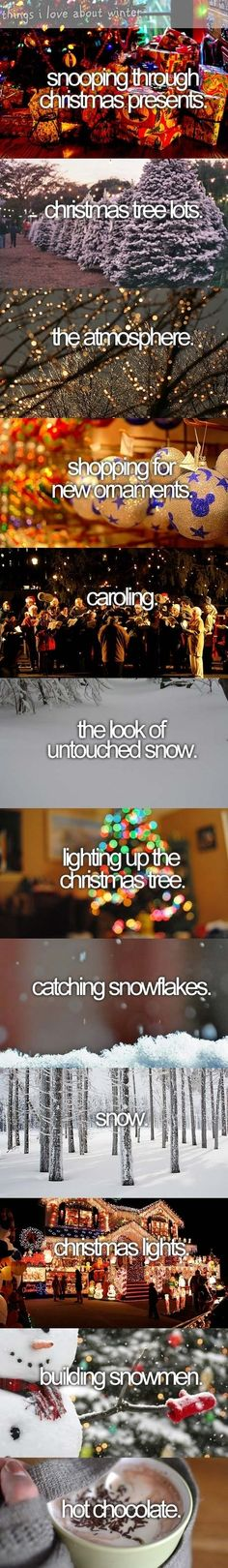 What I love about Christmas...