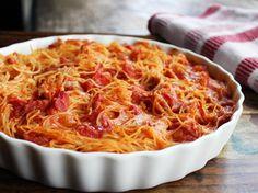 Baked Spaghetti with Chicken (Spaghetti Pie)