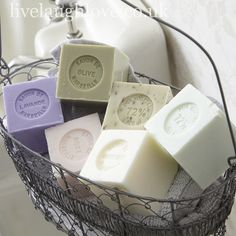 homemade soaps, bathroom chic