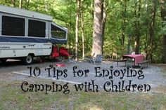 Camping with kids! Includes a recipe for making s'mores in a waffle cone.