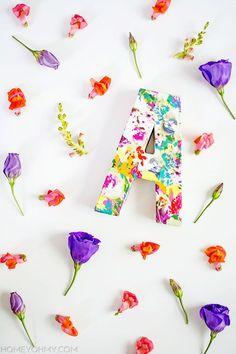 Floral Fabric Monogram