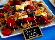 French toast kabob