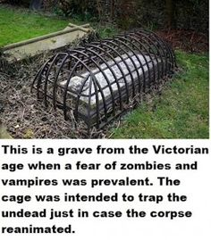 This grave was built to keep people in. Vampires zombies etc.  #zombies #horror