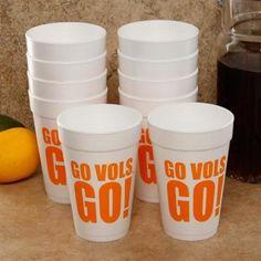 Tennessee Volunteers 10-Pack 16oz. Team Slogan Foam Cups  #UltimateTailgate  #Fanatics