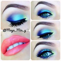 Something colorful   Inglot eyeshadows and @addixtnc_ lipstick in SPIRIT pictorial coming up... - @maya_mia_y- #webstagram