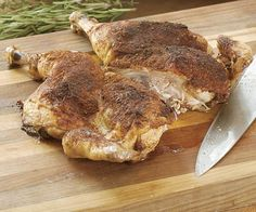 Butterflied Roast Chicken with Chile-Cinnamon Rub (very tender & tasty!)