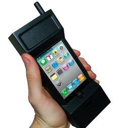 The Ultimate Retro iPhone Case Turns Your iPhone Into an 80′s Block Cellphone.  Yikes! I had one of these - the brick.