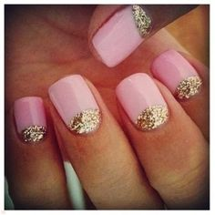 Pink and gold nail art. Nails Nails Nails! The best accessory is a fresh manicure. Visit Walgreens.com for more