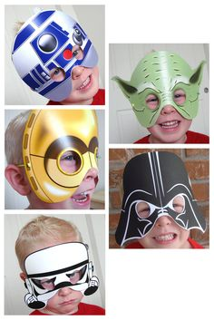 STAR WARS PARTY Printable Mask Collection by BessiePooh on Etsy. $12.00, via Etsy.