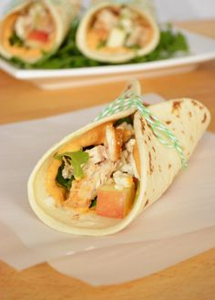 Apple and Chicken Tacos with Pumpkin Mayo