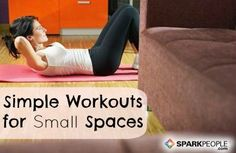 Smart Workout Ideas for Small Spaces | via @SparkPeople #fitness #exercise #apartment #hotel #dorm