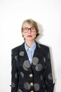 Vintage blazer / black bold polka dot classic jacket / by nemres, $49.00