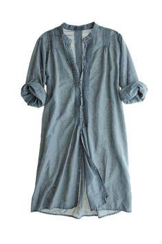 cotton silk tunic dress