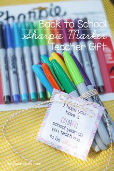 Back to School Sharpie Marker Teacher Gift