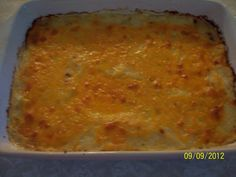 My version of Spagetti Squash Au Gratin.  Very delicious!