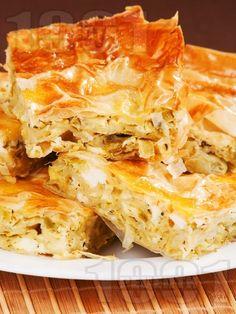 Рецепта за Баница с праз и сирене - начин на приготвяне, калории, хранителни факти, подобни рецепти