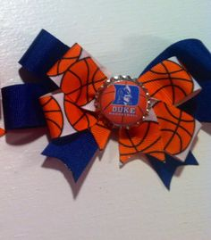 Duke Basketball Bow by LarrynPaige on Etsy, $5.00