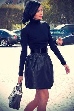 Leigh Lezark. All black chic