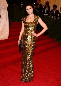 Jessica Pare at the Met Gala 2012 #style #redcarpet #harpersbazaar #fashion #partysnaps