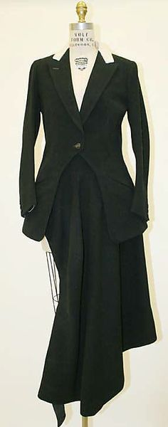 Tailoring.....1936 Riding Habit by Robert Douglas Ltd. New Bond St., London  (British) - Wool