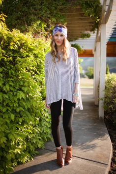 Comfy Casual: Featuring Shop Adorn M Rena leggings, a Rayna Jaye Turban and Belle Vie bangles! - Twenties Girl Style