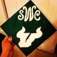 Monogrammed #USF graduation cap!