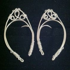 Elf ears handmade wire metal elf ear cuffs by AuntMatildasJewelry, $22.50