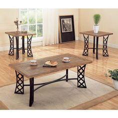 coffee tables, black metal, living room tables, coffe tabl, apart, tabl set, metal base