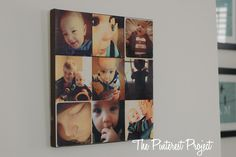 The Pinterest Project: Instagram Photo Collage Canvas