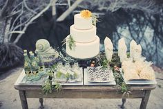wedding desserts, wedding dessert tables, wedding cakes, fall weddings, cake tables, dessert station, fairytale weddings, reception tables, woodland fairytal