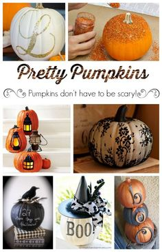 Pretty Pumpkins - because pumpkins don't have to be scary