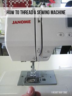 How to thread a sewing machine {tutorial}