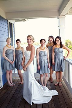 love the bridesmaid's dresses!
